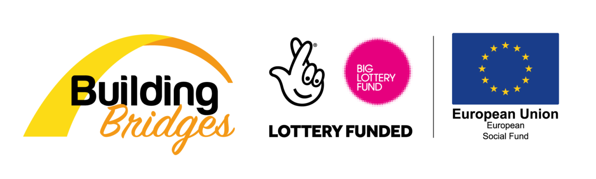 Building Bridges, Big Lottery Fund and European Social Fund's logos