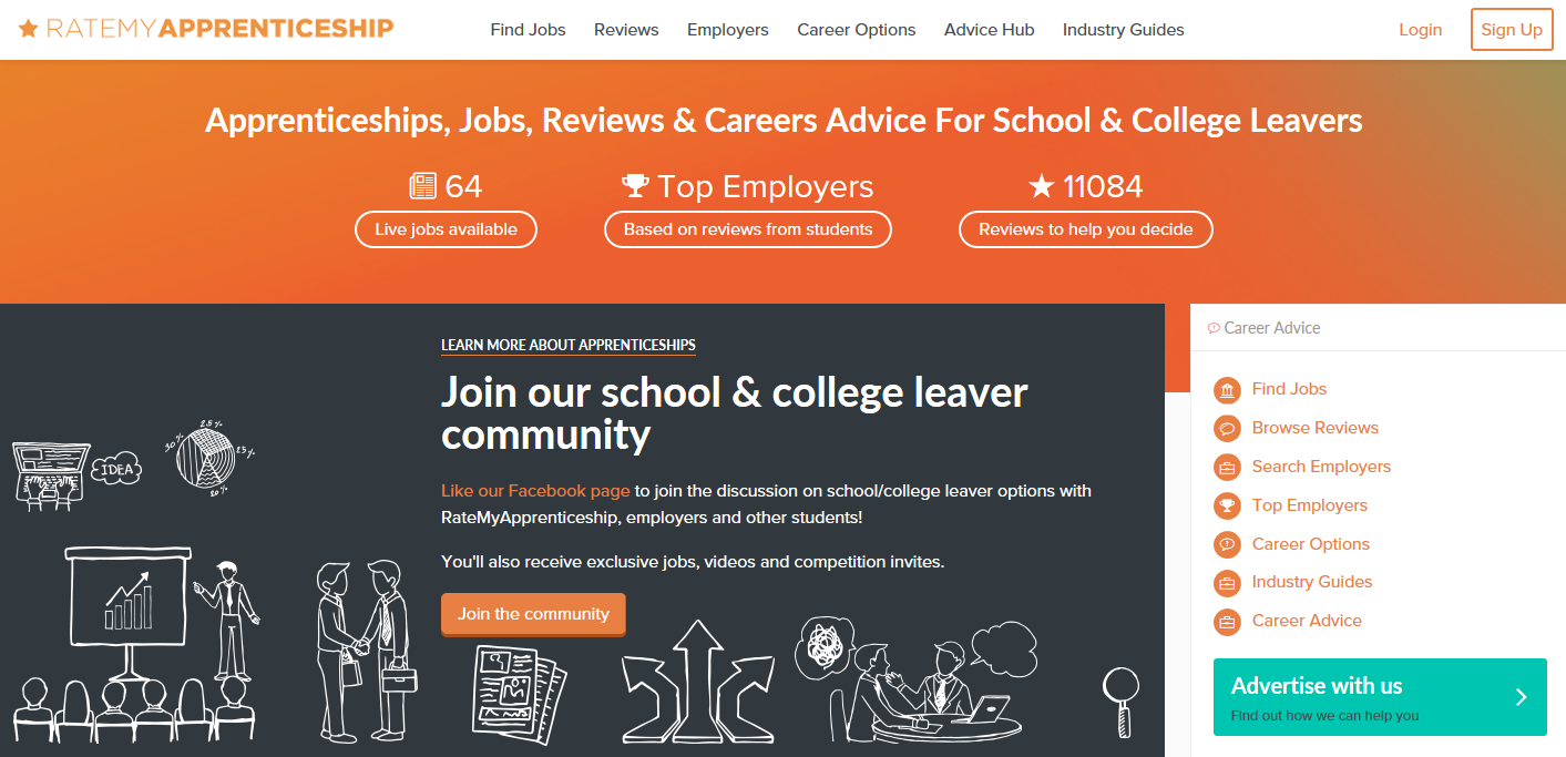 Ratemyapprenticeship homepage