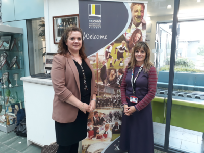 A photo of Enterprise Adviser Fiona Kellow with Fiona Havill