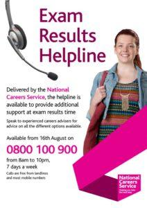 thumbnail of Exam Results Helpline poster