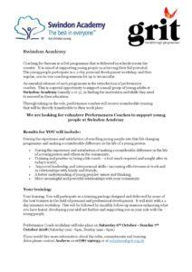 thumbnail of Performance Coach – Swindon Academy