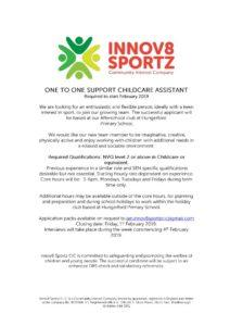 thumbnail of staff advert – 1 to 1 support 01.19