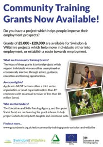 thumbnail of ESFA Swindon Wiltshire Community Training Grants_A5 Flyer v5