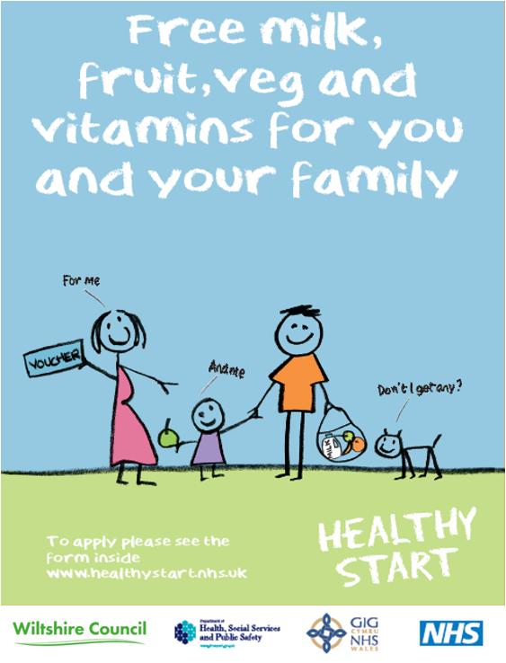 NHS Healthy Start voucher scheme poster