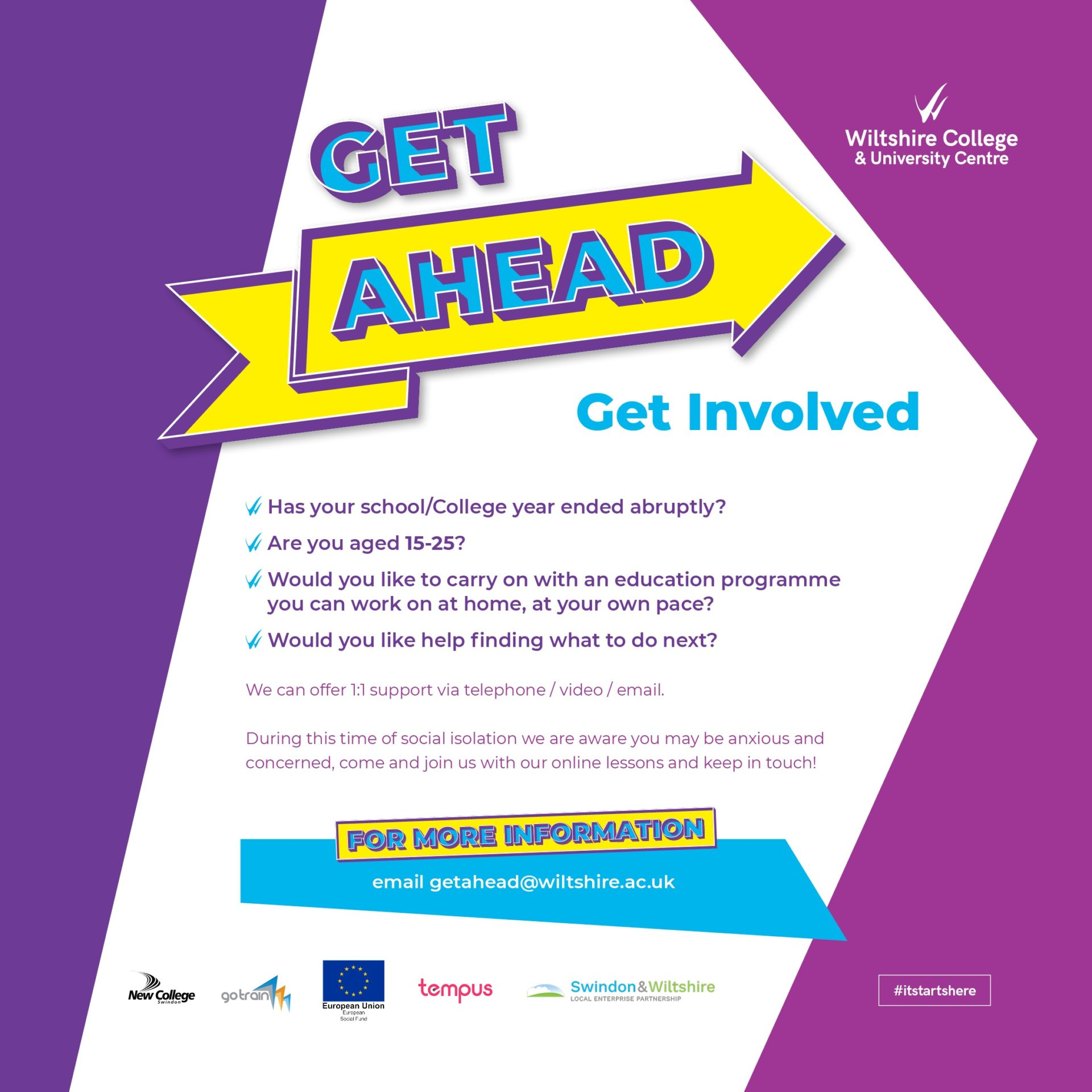 Get Ahead programme information
