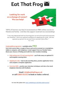 thumbnail of Employability Online Courses Leaflet