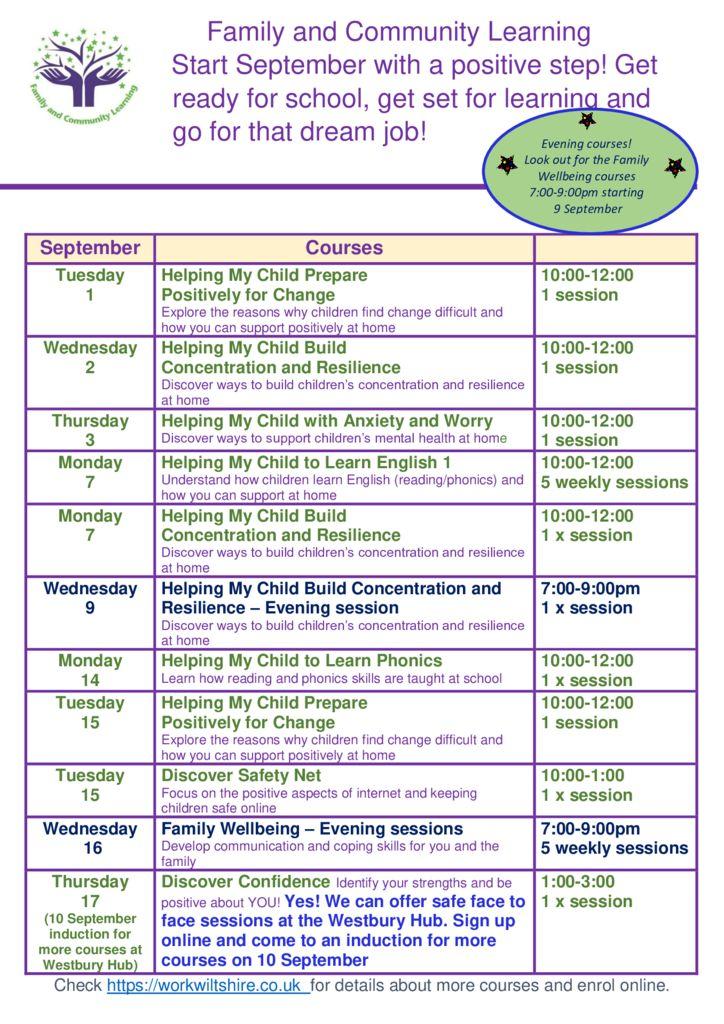 thumbnail of FaCL September Course Calendar