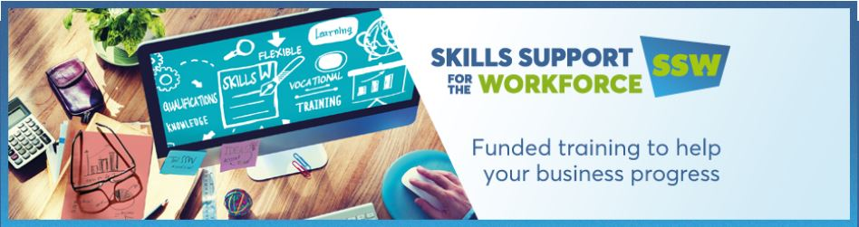 Skills Support for the Workforce Funded Training banner