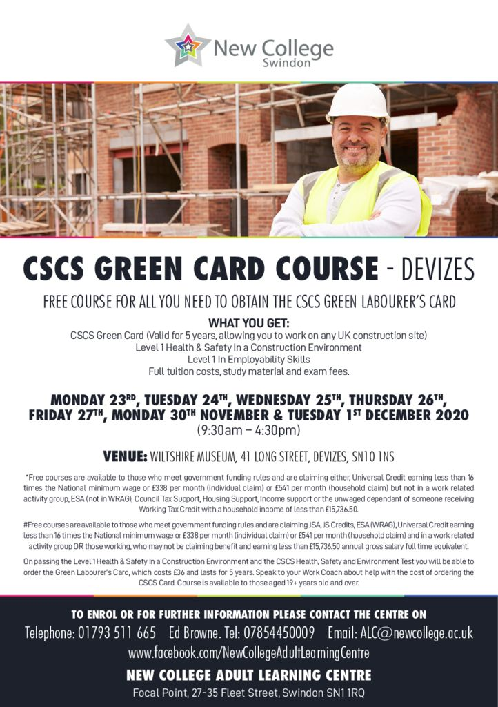 thumbnail of CSCS Green Labourer Card_DEVIZES