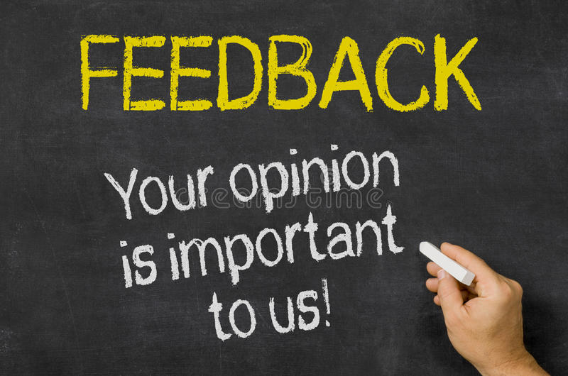 the image draws attention to the importance of your feedback