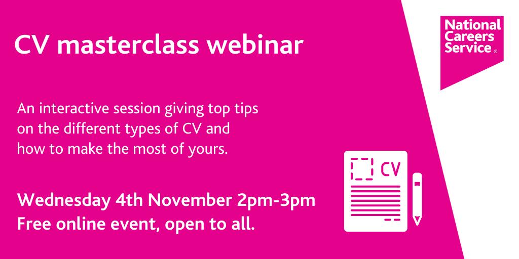 CV masterclass webinar banner