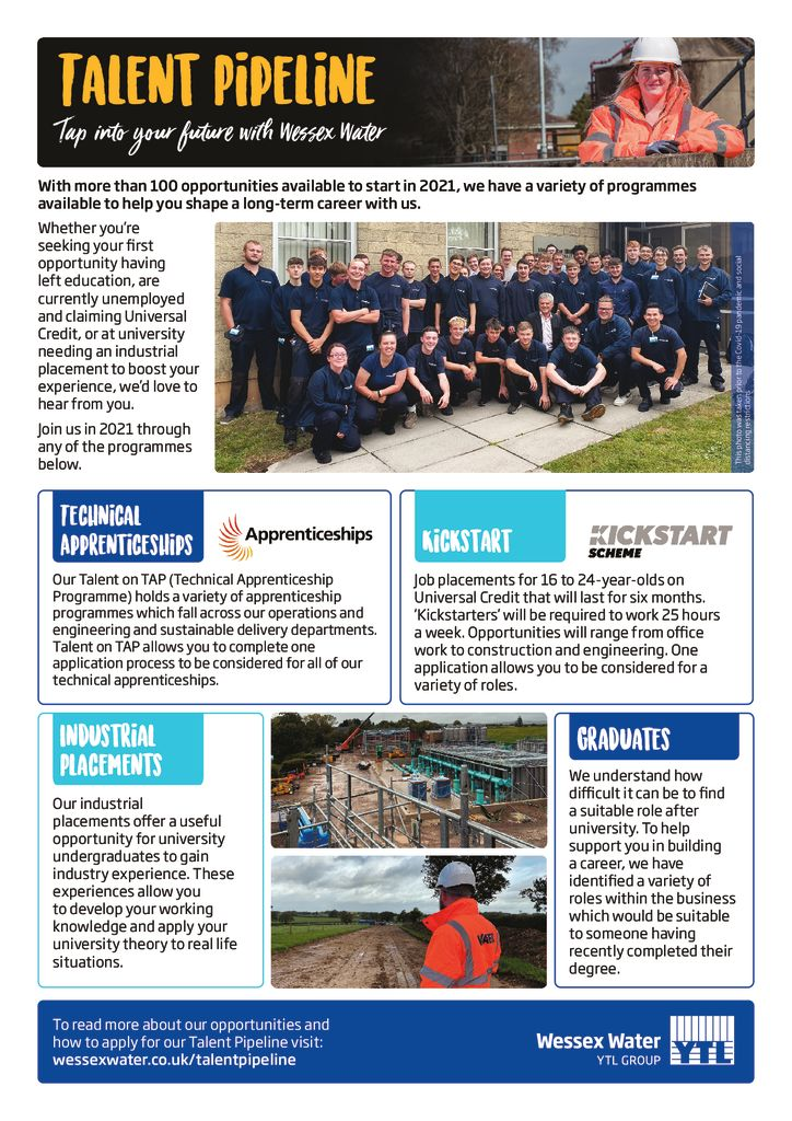 thumbnail of Wessex Water Talent Pipeline Poster – 2021