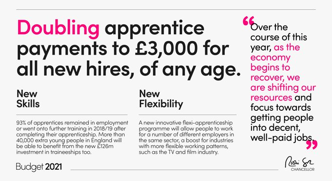 £3k apprenticeship incentive infographic from gov