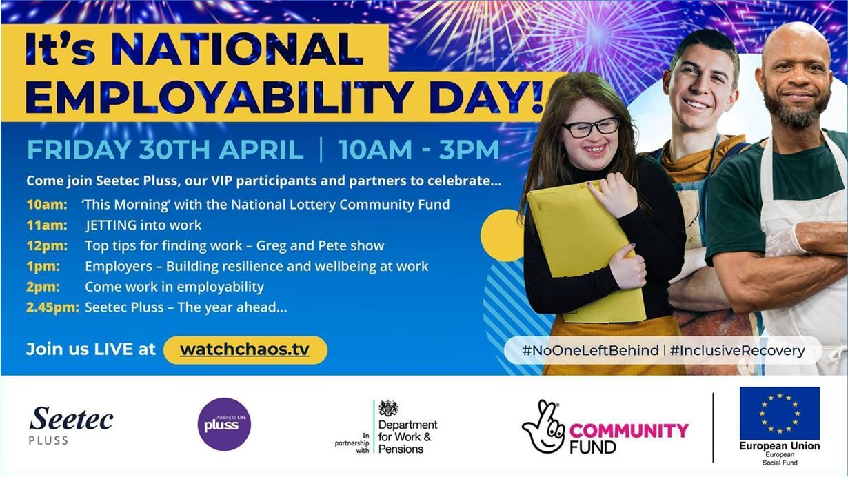 National Employability Day flyer promoting what is happening during the day