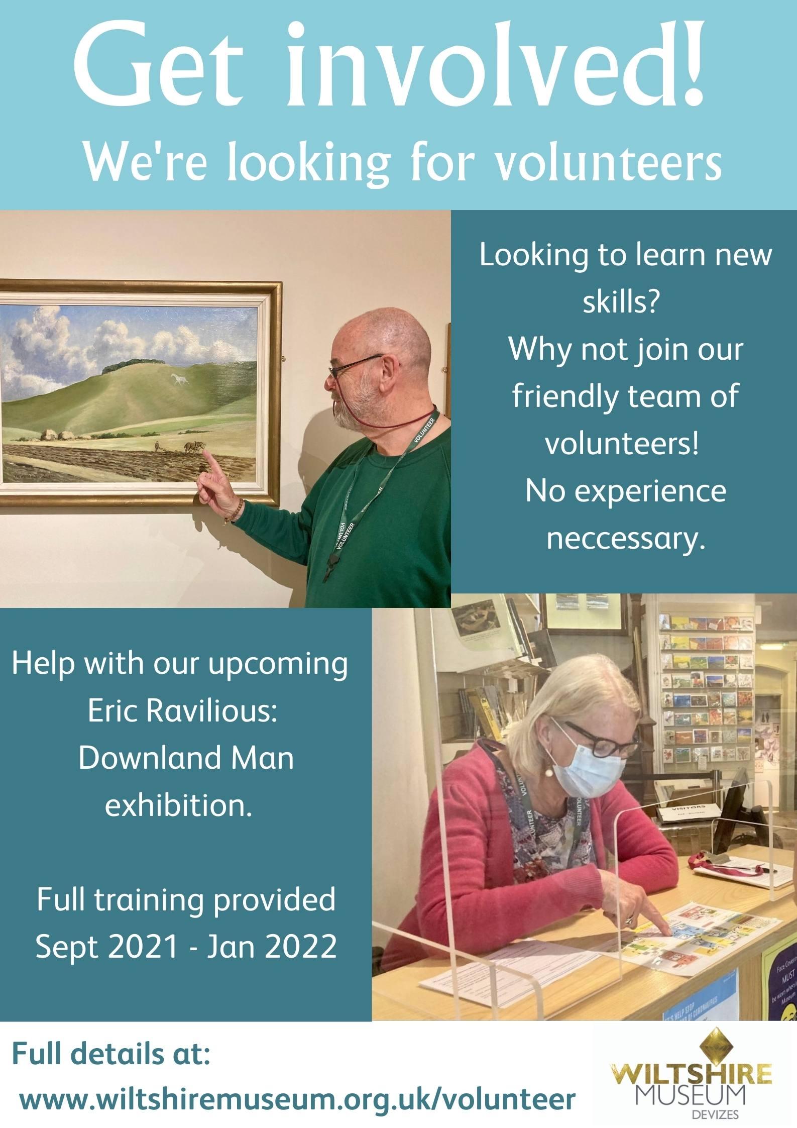 Wiltshire Museum Seeking Volunteers September 2021 - January 2022